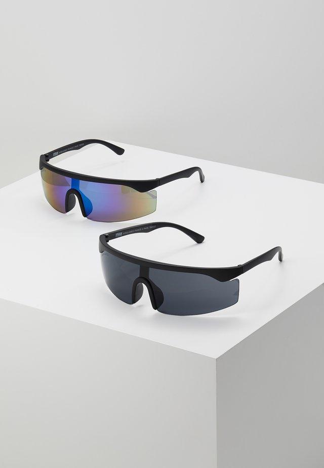 SUNGLASSES FRANCE 2 PACK - Aurinkolasit - black/blue/green