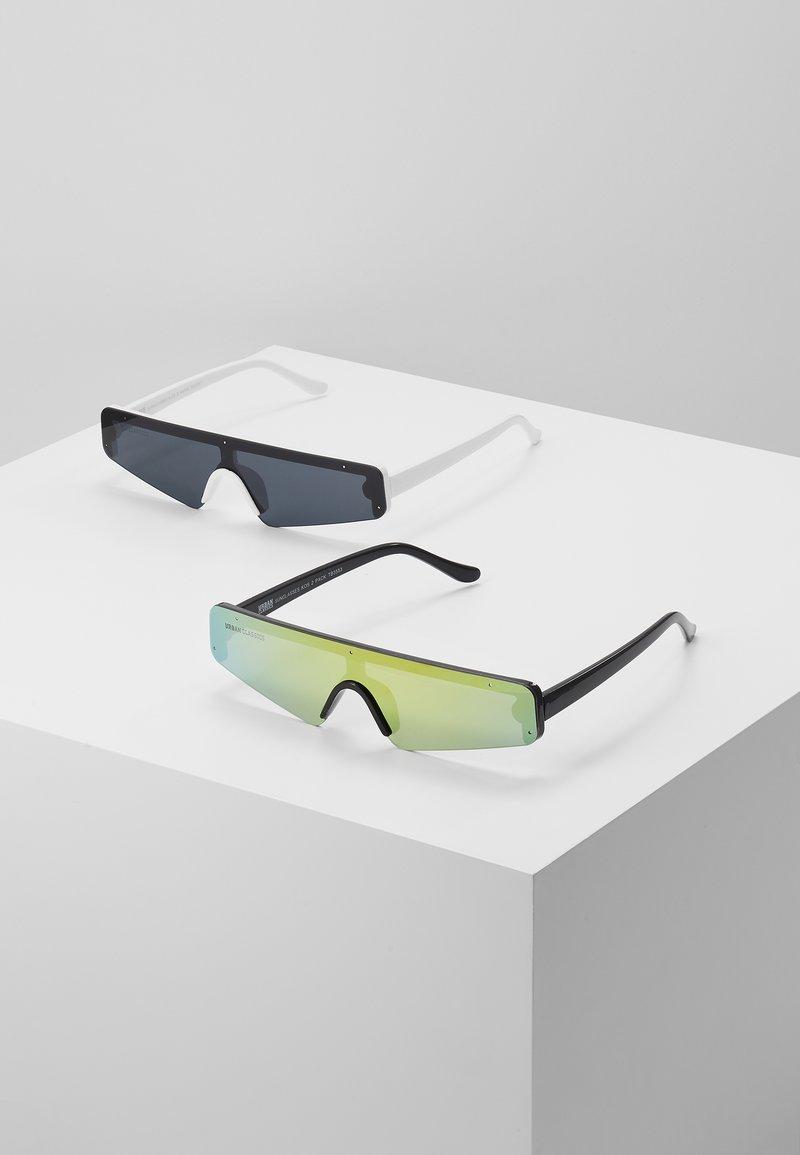 Urban Classics - SUNGLASSES 2 PACK - Sunglasses - black/multicolour/white