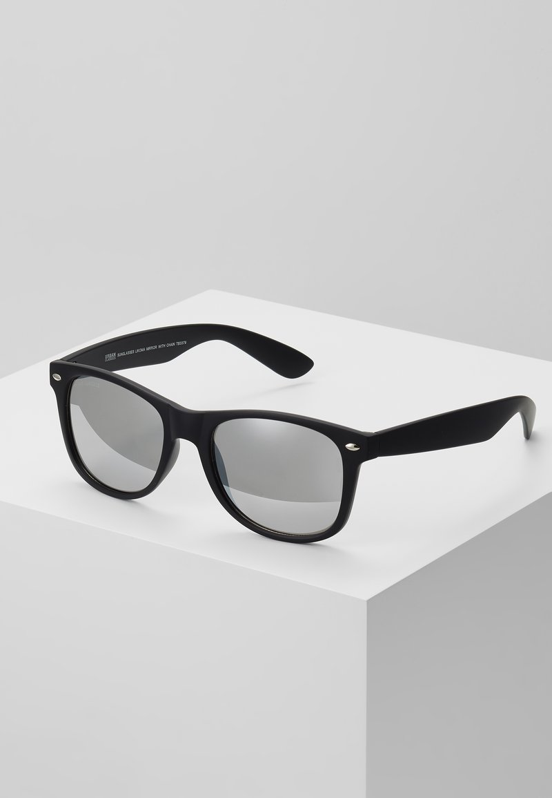 Urban Classics - SUNGLASSES LIKOMA MIRROR WITH CHAIN - Sunglasses - black/silver