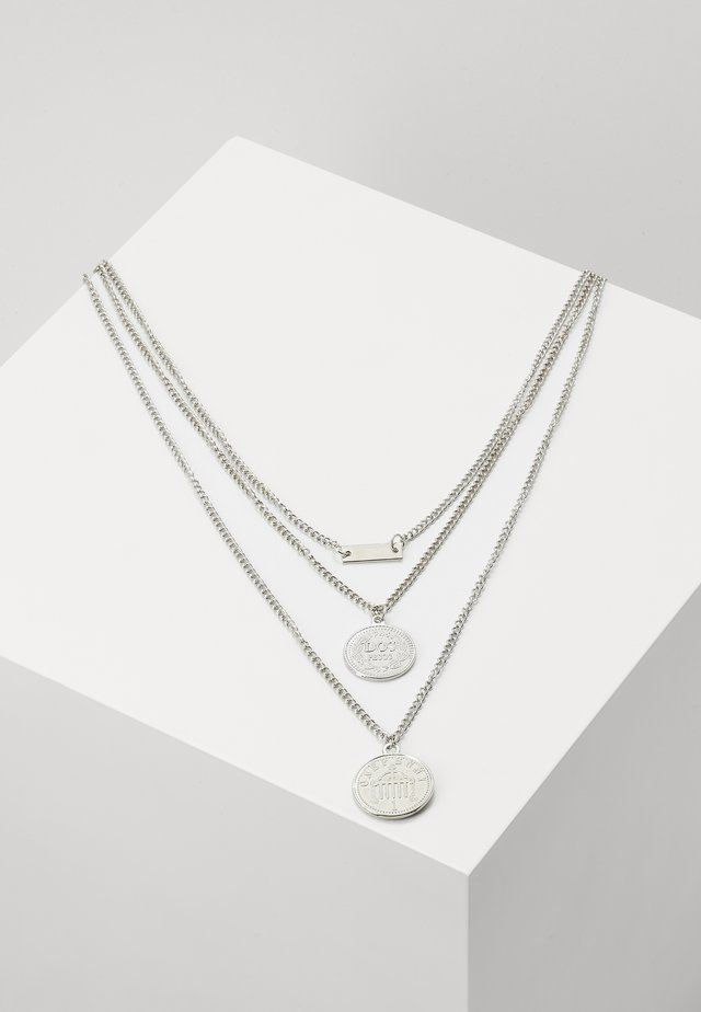 LAYERING NECKLACE AMANDA - Halskette - silver-coloured