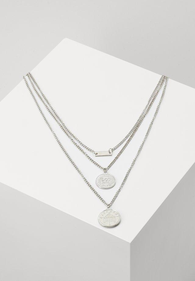 LAYERING NECKLACE AMANDA - Kaulakoru - silver-coloured