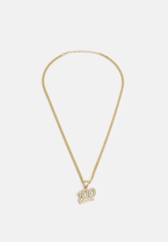 ONE HUNDRED NECKLACE - Ketting - gold-coloured