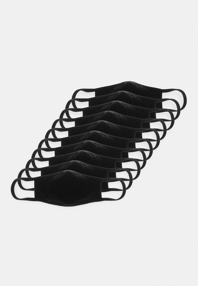 FACE MASK 10 PACK - Munnbind i tøy - black