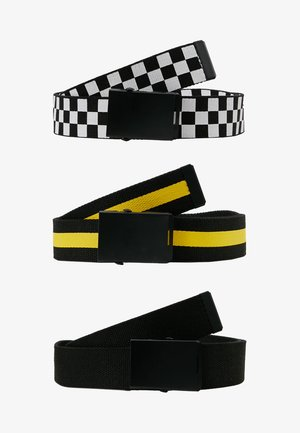 3 PACK - Cinturón - black/white/yellow