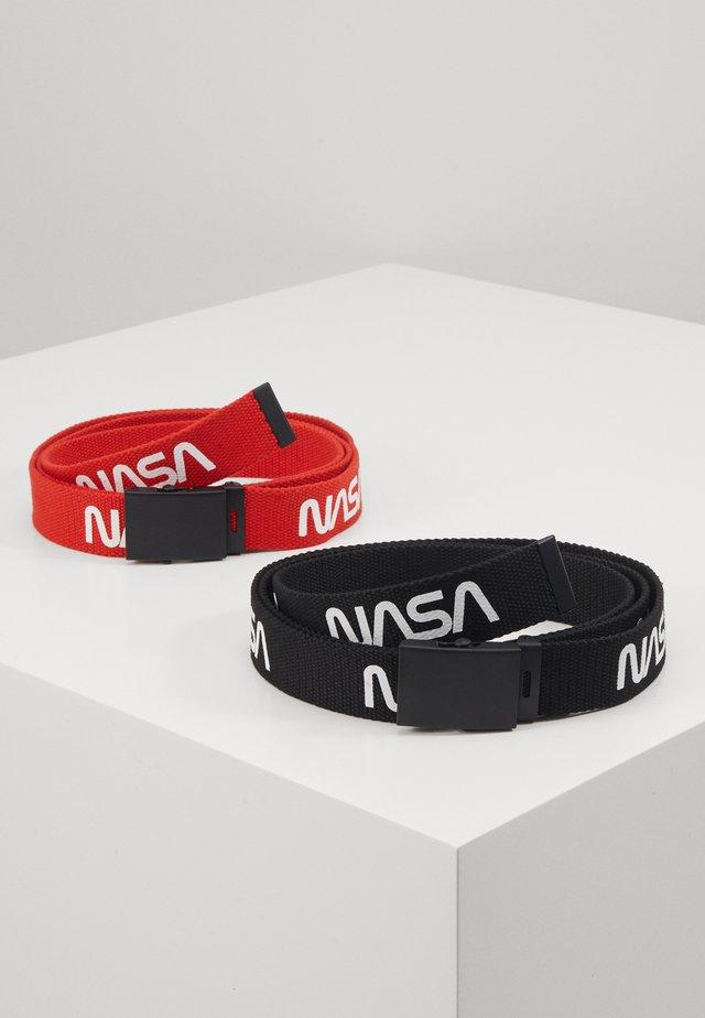 NASA BELT EXTRA LONG 2 PACK - Belt - black/red