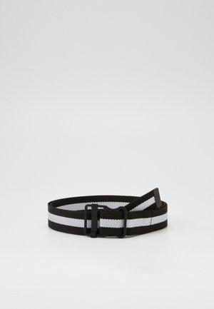 EASY BELT WITH STRIPES - Belt - black/white