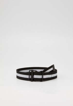 EASY BELT WITH STRIPES - Riem - black/white