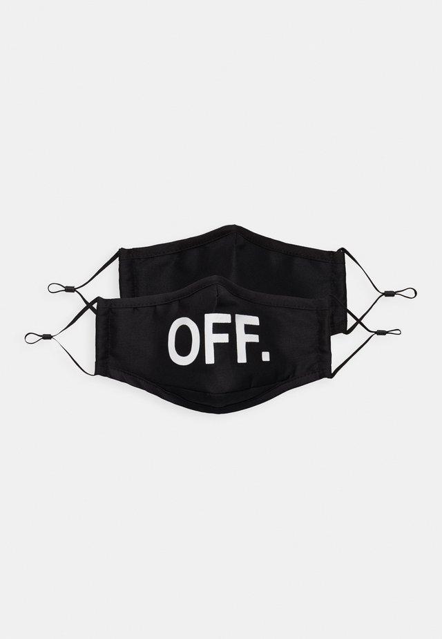 FACE MASK OFF 2 PACK - Kasvomaski - black