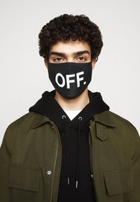 Urban Classics - FACE MASK OFF 2 PACK - Munnbind i tøy - black - 1