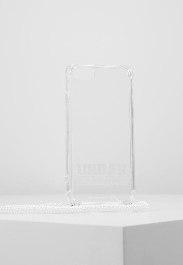 I PHONE 8 HANDY NECKLACE - Phone case - transparent/white