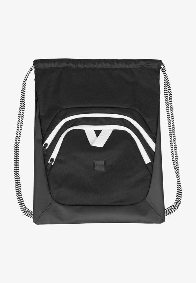 Across body bag - black/black/white