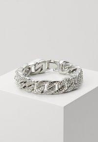Urban Classics - BIG BRACELET WITH STONES - Bracelet - silver-coloured - 0