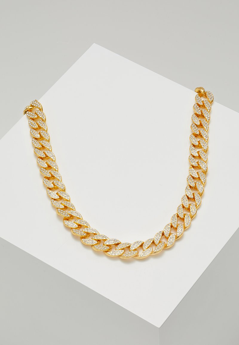 Urban Classics - HEAVY NECKLACE WITH STONES - Necklace - gold-coloured