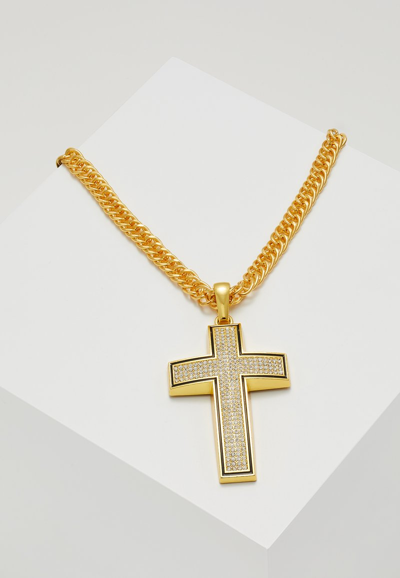 Urban Classics - BIG CROSS NECKLACE - Collier - gold-coloured