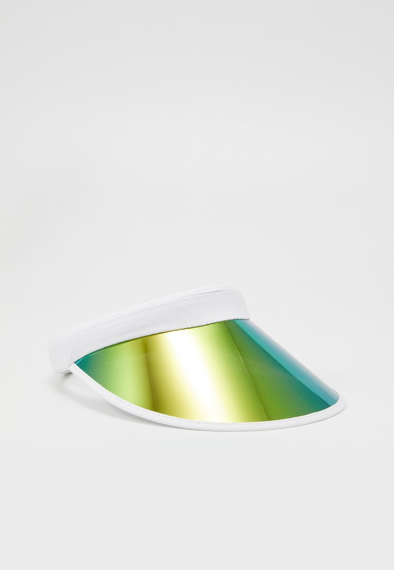 Urban Classics - HOLOGRAPHIC VISOR - Lippalakki - white/multicolor