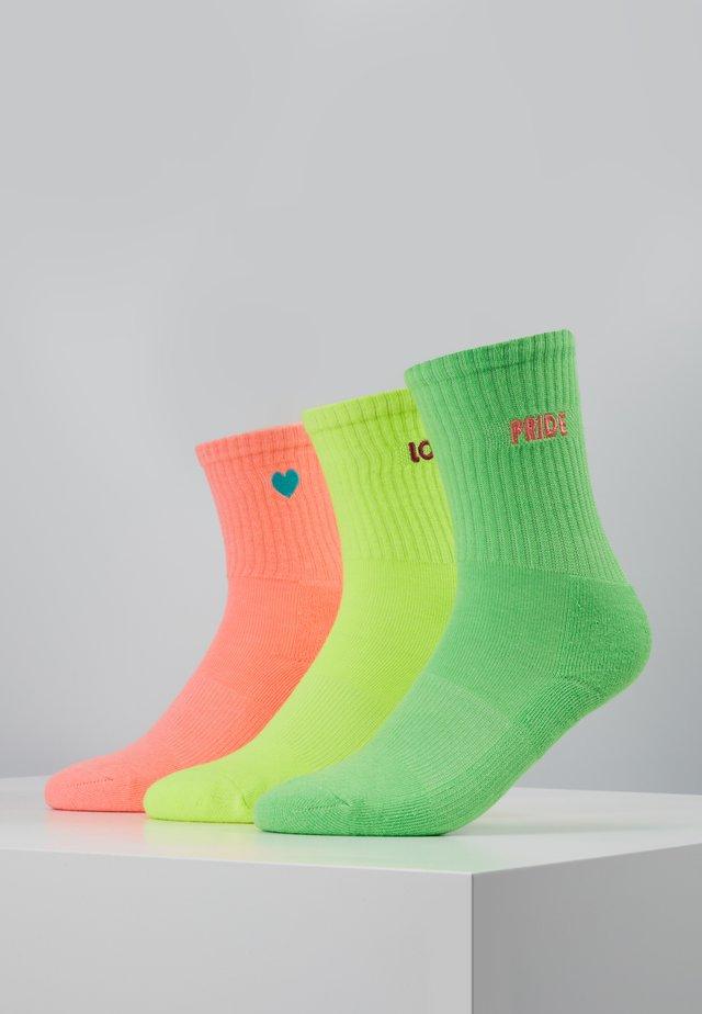 PRIDE PACK 3 PACK - Socks - neon yellow/neon pink/neon green