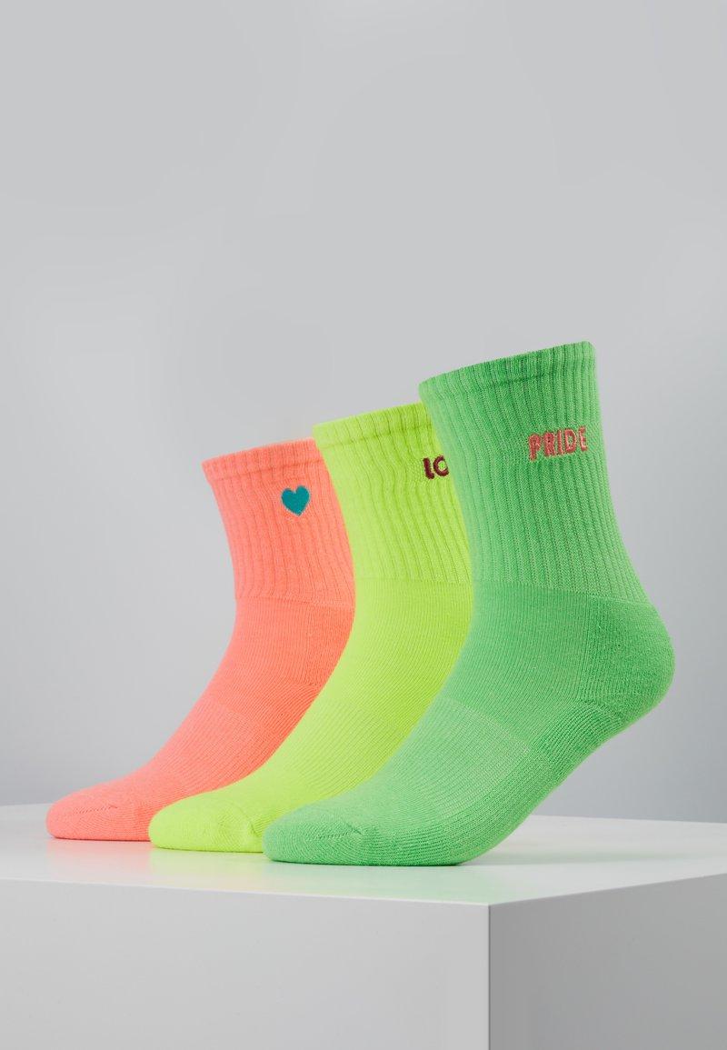 Urban Classics - PRIDE PACK 3 PACK - Sokken - neon yellow/neon pink/neon green