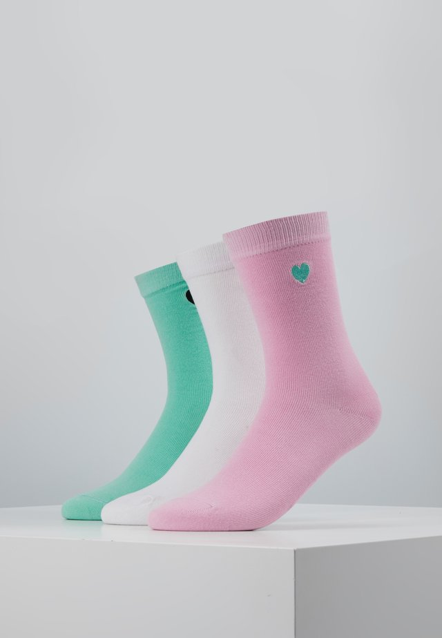 HEART SOCKS 3 PACK - Strømper - mint/rose/white