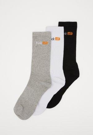 3 PACK - Sokker - black/white/light grey