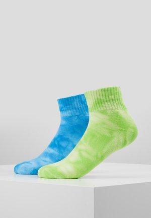 TIE DYE SOCKS SHORT 2 PACK - Sokken - green/blue