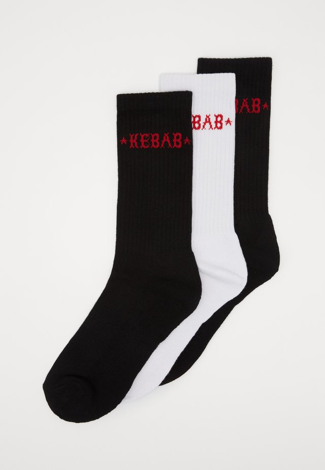KEBAB SOCKS 3 PACK - Socks - black/white