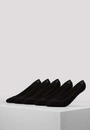 INVISIBLE SOCKS 5 PACK - Sportovní ponožky - black