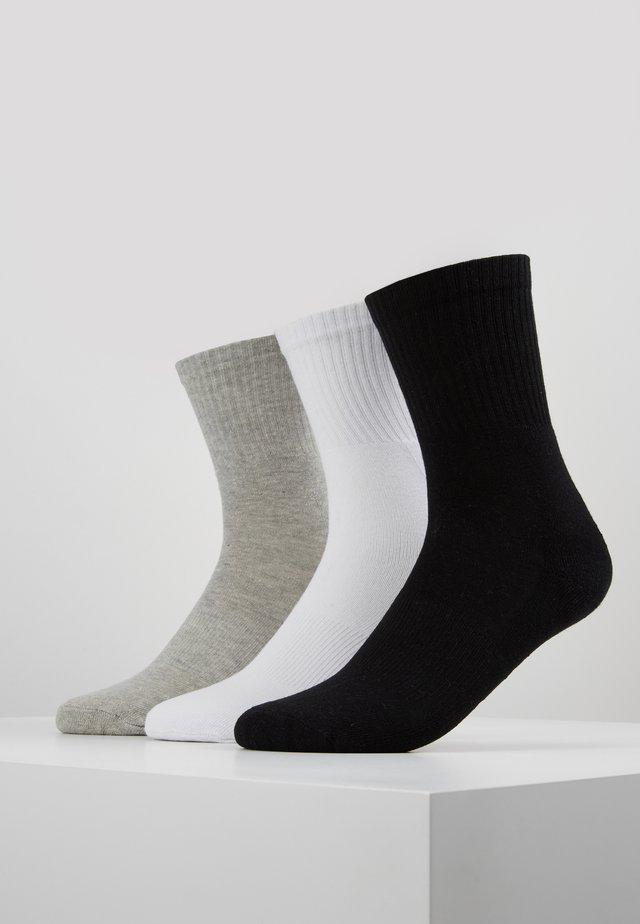 SPORT 3 PACK - Strømper - black/white/grey