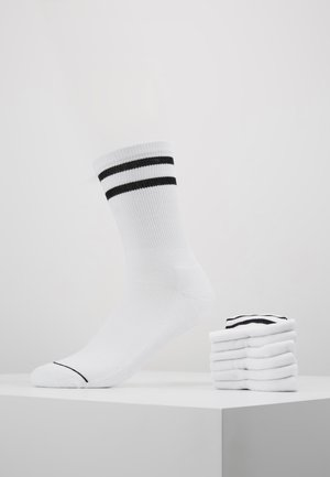 2-TONE COLLEGE SOCKS 6 PACK - Strømper - white/black