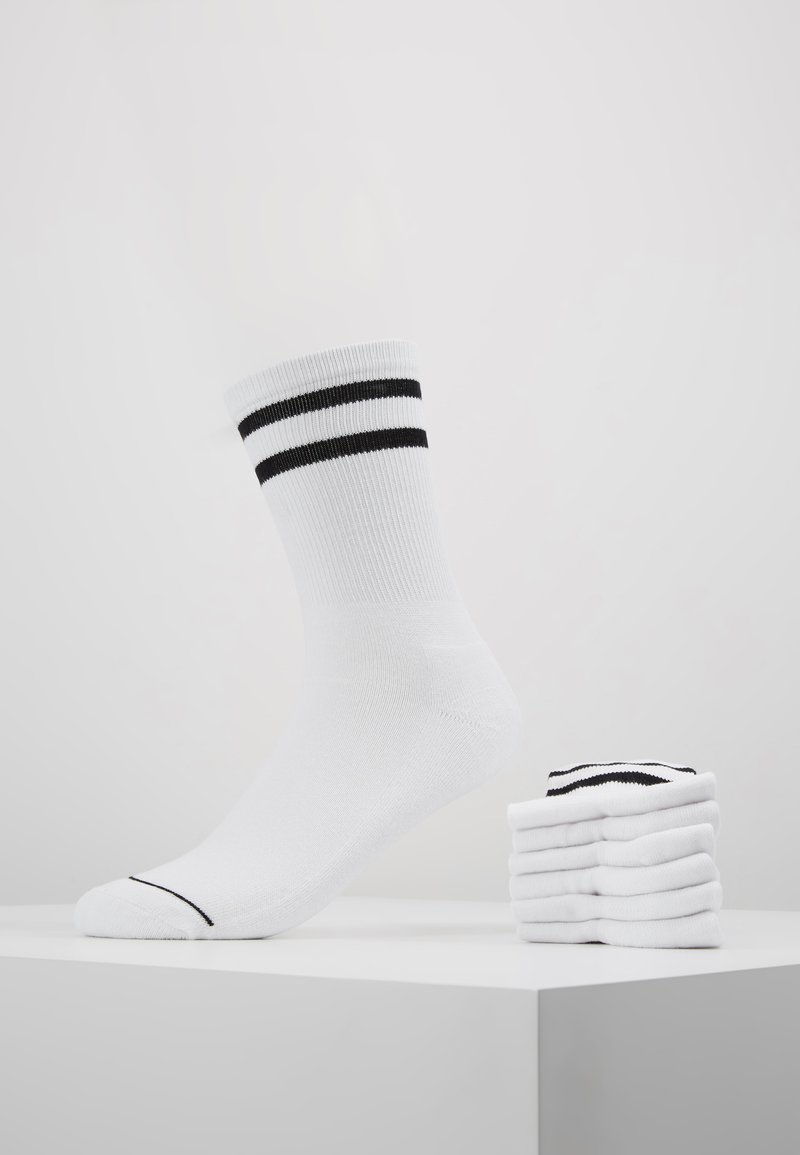Urban Classics - 2-TONE COLLEGE SOCKS 6 PACK - Calze - white/black