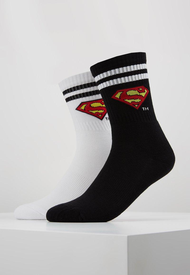 Urban Classics - SUPERMAN 2 PACK - Socks - black/white