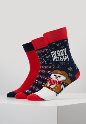CHRISTMAS SOCKS SET ICE COWBOY 3 PACK - Ponožky - multicolor