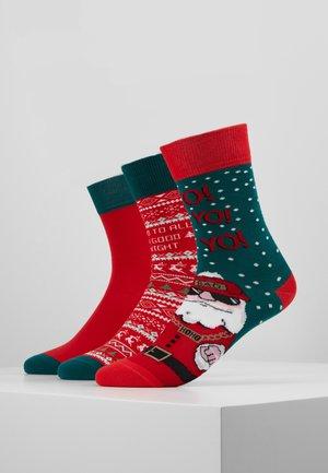 CHRISTMAS SOCKS SET SANTA 3 PACK - Sokken - multicolor