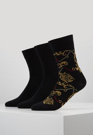 LUXURY SOCKS 3 PACK - Calcetines - black