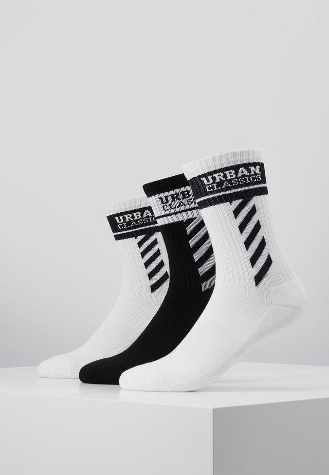 SPORTY LOGO SOCKS 3 PACK - Strømper - white/black