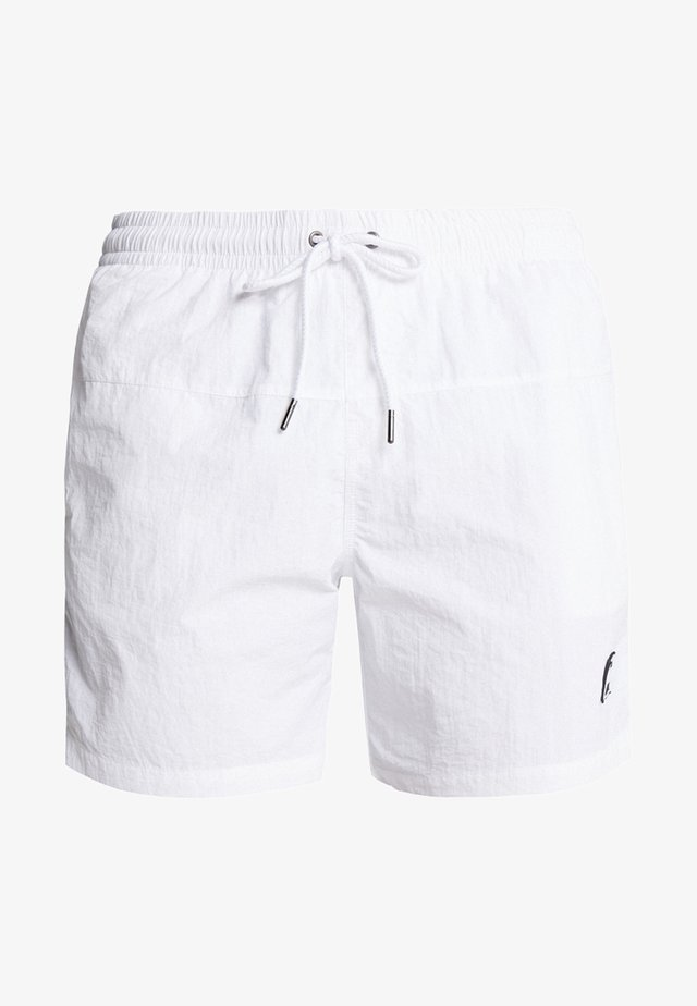 BLOCK SWIM - Swimming shorts - white