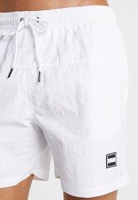 Urban Classics - BLOCK SWIM - Shorts da mare - white - 3