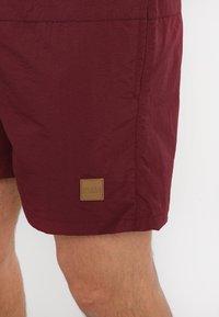 Urban Classics - BLOCK SWIM - Shorts da mare - cherry - 3