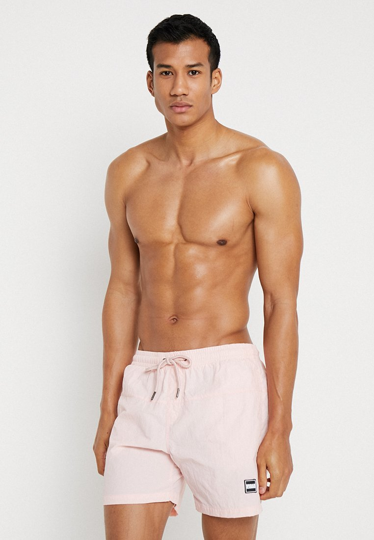 Urban Classics - BLOCK SWIM - Swimming shorts - pink