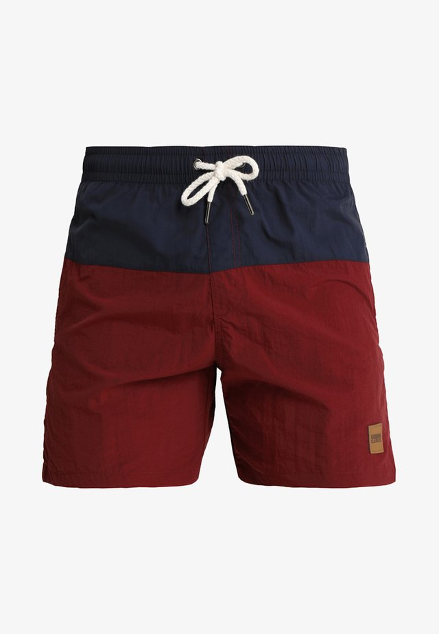 BLOCK SWIM - Badeshorts - navy/burgundy