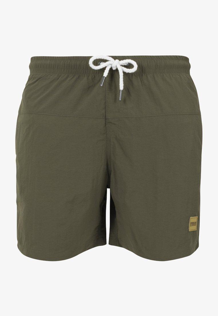 Urban Classics - BLOCK SWIM - Swimming shorts - olive