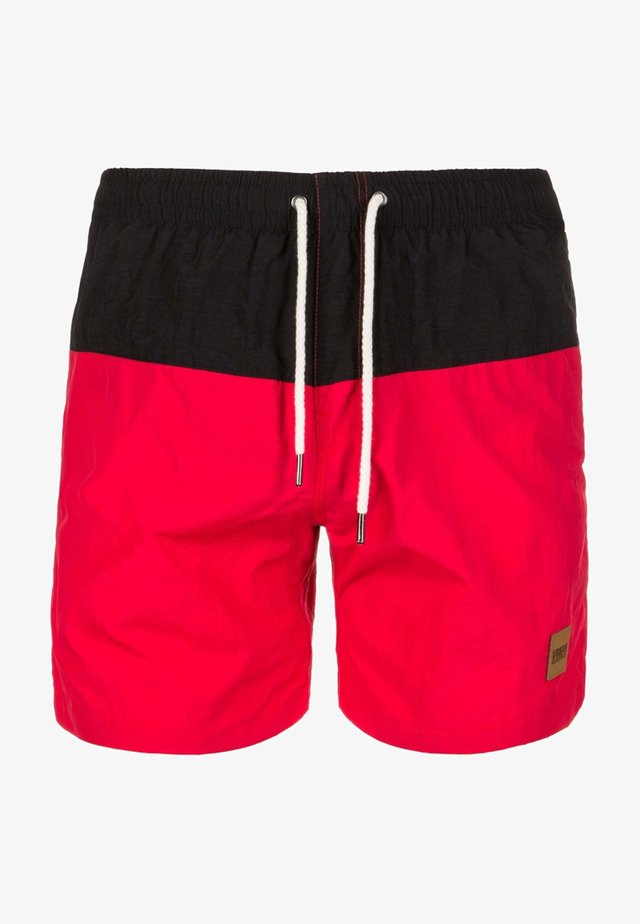 BLOCK SWIM - Badeshorts - black/red