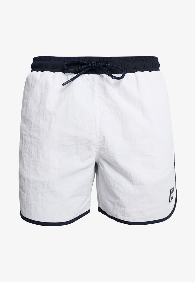 RETRO - Swimming shorts - white/navy