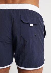 Urban Classics - RETRO - Shorts da mare - navy/white - 1