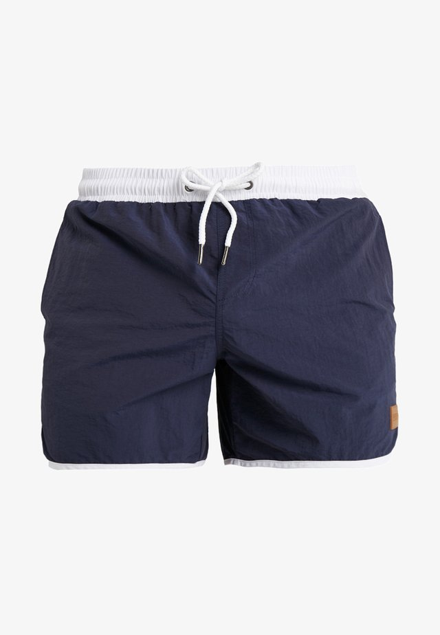 RETRO - Badeshorts - navy/white