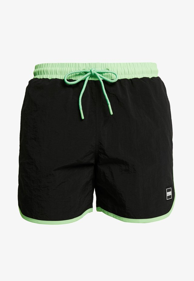 RETRO - Badeshorts - black/neongreen