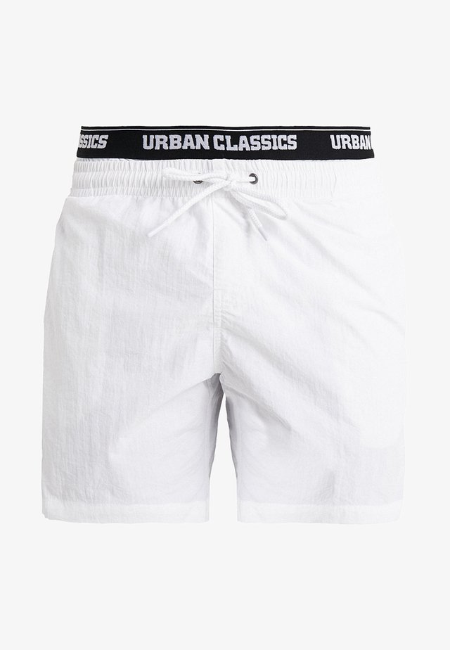 TWO IN ONE SWIM - Badeshorts - white/black
