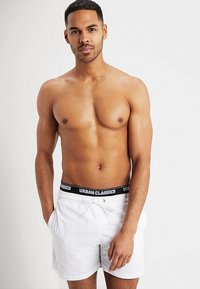 Urban Classics - TWO IN ONE SWIM - Bañador - white/black - 0
