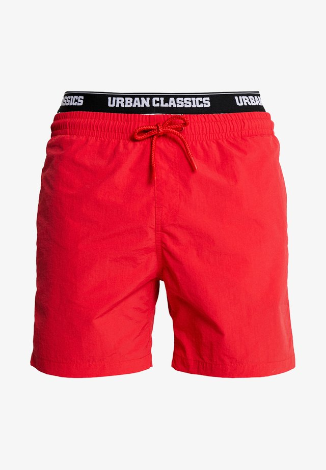 TWO IN ONE SWIM - Swimming shorts - firered/white/black