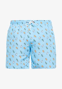 Urban Classics - PATTERNSWIM - Swimming shorts - light blue/ice - 0