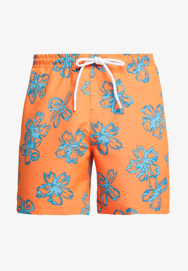 FLORAL SWIM SHORTS - Swimming shorts - orange